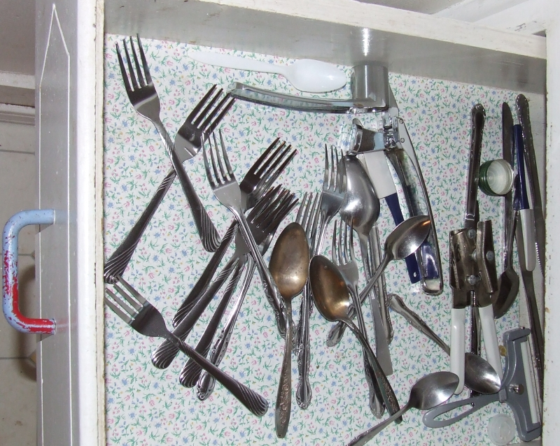 Drawer of Forks and Spoons