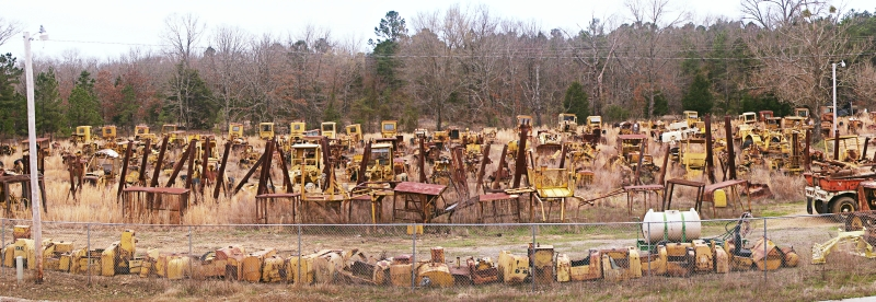 Heavy Machinery in the Junkyard