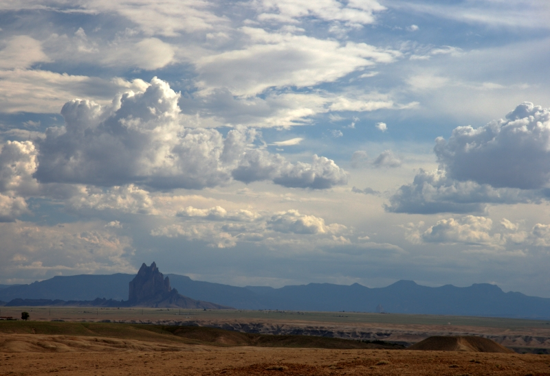 Clouds above Shiprock