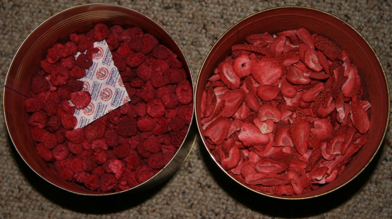 Freeze Dried Raspberries and Strawberries