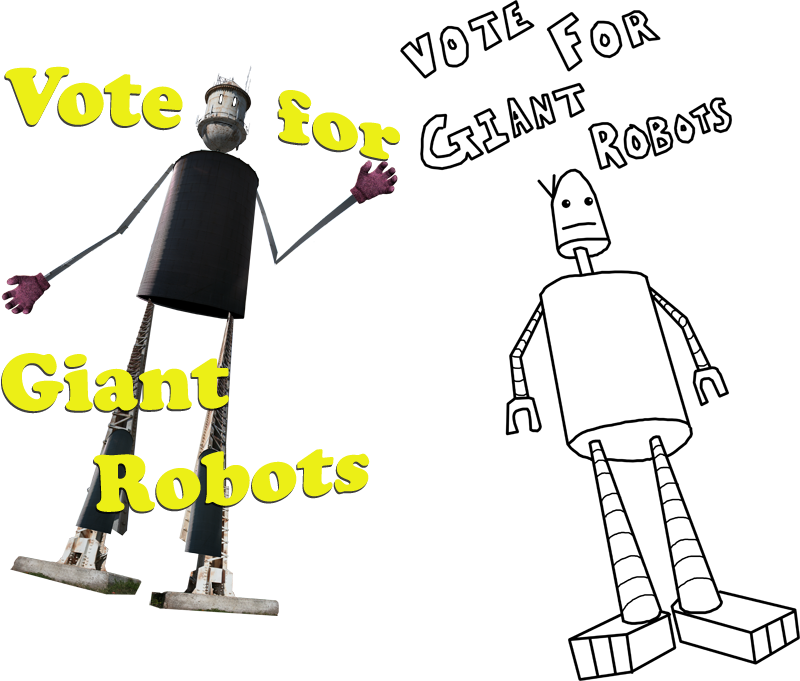Vote For 2 Giant Robots