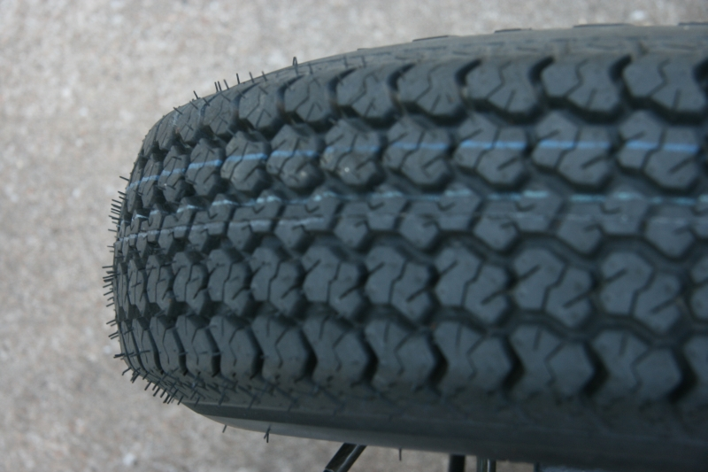 untrod tire tread
